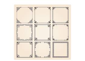 复古欧式花纹标签边框设计