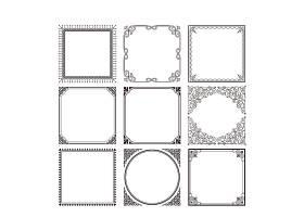 简洁个性欧式花纹标签边框设计