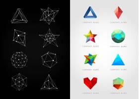 创意几何体形象创意LOGO设计