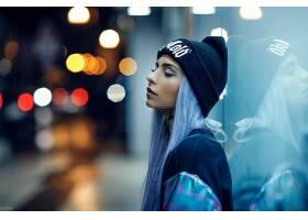 女人,模特,模特,妇女,女孩,帽子,口红,情绪,反射,壁纸,