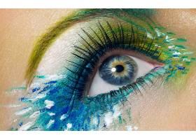 女人,眼睛,妇女,女孩,化妆品,彩色,壁纸,