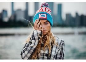 女人,模特,模特,妇女,女孩,帽子,深度,关于,领域,白皙的,壁纸,