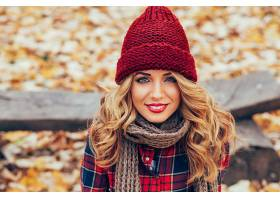 女人,模特,模特,妇女,女孩,帽子,白皙的,围巾,口红,微笑,壁纸,