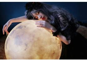 女人,艺术的,女孩,地球,睡眠,亚洲的,口红,灰色,头发,壁纸,