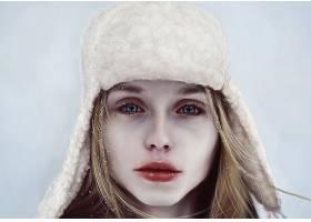 女人,艺术的,女孩,妇女,白皙的,帽子,蓝色,眼睛,壁纸,