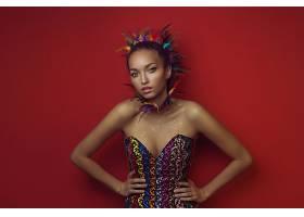 女人,模特,模特,妇女,女孩,棕色,眼睛,羽毛,壁纸,