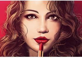 女人,艺术的,绘画,女孩,妇女,口红,黑发女人,壁纸,