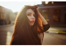 女人,模特,模特,妇女,女孩,红发的人,快活的,深度,关于,领域,壁纸