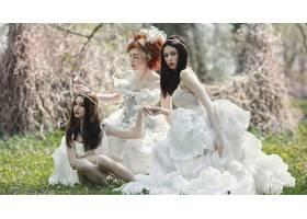 女人,新娘,妇女,女孩,婚礼,穿衣,黑发女人,红发的人,壁纸,图片