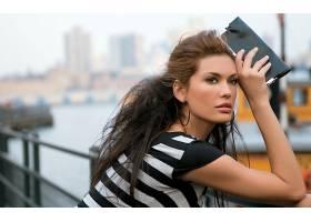 女人,月亮女神,莫拉,模特,巴西,妇女,黑发女人,脸,棕色,眼睛,模特