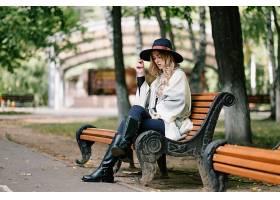 女人,情绪,妇女,模特,女孩,工作台,帽子,白皙的,深度,关于,领域,