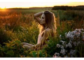 女人,情绪,妇女,模特,女孩,白皙的,日出,深度,关于,领域,壁纸,