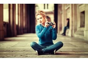 女人,伊娃,Mikulski,模特,妇女,模特,女孩,白皙的,蓝色,眼睛,照相