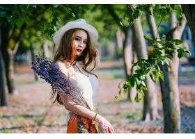 女人,亚洲的,妇女,模特,女孩,口红,帽子,深度,关于,领域,酒香,黑