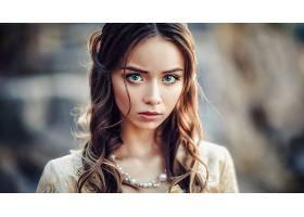 女人,脸,妇女,模特,女孩,黑发女人,蓝色,眼睛,项链,壁纸,