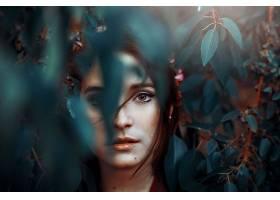 女人,脸,妇女,模特,黑发女人,头发,棕色,眼睛,叶子,壁纸,