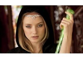 女人,脸,幻想,妇女,女孩,白皙的,头巾,蓝色,眼睛,壁纸,