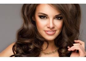 女人,脸,妇女,女孩,模特,项链,微笑,棕色,眼睛,黑发女人,壁纸,
