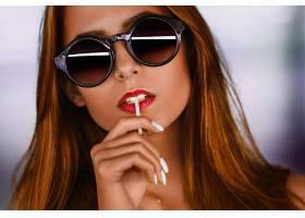 女人,脸,妇女,模特,女孩,口红,太阳镜,红发的人,壁纸,