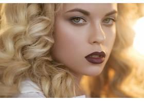女人,脸,妇女,模特,女孩,口红,白皙的,卷曲,绿色的,眼睛,壁纸,