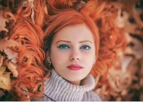女人,脸,妇女,模特,女孩,口红,红发的人,壁纸,
