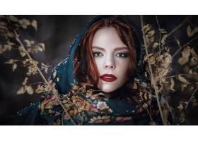 女人,脸,妇女,模特,女孩,口红,红发的人,蓝色,眼睛,壁纸,