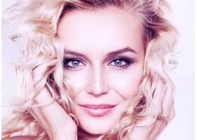 女人,脸,妇女,模特,女孩,白皙的,微笑,蓝色,眼睛,壁纸,