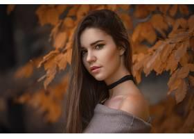 女人,模特,模特,妇女,女孩,黑发女人,棕色,眼睛,秋天,壁纸,图片