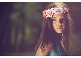 女人,模特,模特,妇女,女孩,黑发女人,蓝色,眼睛,花冠,壁纸,
