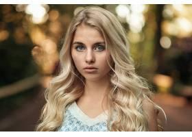 女人,模特,模特,妇女,女孩,白皙的,蓝色,眼睛,深度,关于,领域,Bok