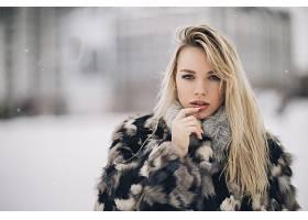 女人,模特,模特,妇女,女孩,白皙的,蓝色,眼睛,深度,关于,领域,壁