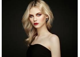 女人,模特,模特,妇女,女孩,白皙的,蓝色,眼睛,耳环,口红,壁纸,