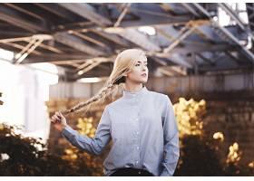 女人,模特,模特,妇女,女孩,白皙的,辫子,深度,关于,领域,壁纸,