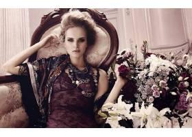 女人,模特,模特,妇女,女孩,过时的,花,珠宝,壁纸,