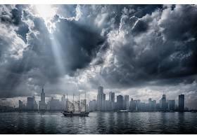 车辆,帆船,美国,芝加哥,云,阳光,摩天大楼,壁纸,图片