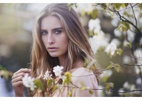 女人,模特,模特,妇女,女孩,白皙的,蓝色,眼睛,花,污迹,壁纸,