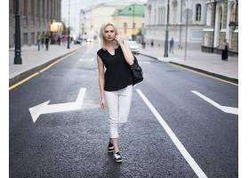 女人,模特,模特,妇女,女孩,白皙的,街道,深度,关于,领域,壁纸,