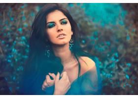 女人,模特,模特,妇女,女孩,黑发女人,蓝色,眼睛,耳环,壁纸,