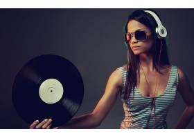 女人,模特,模特,音乐,记录,耳机,壁纸,