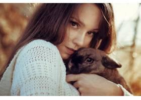 女人,情绪,妇女,模特,女孩,脸,黑发女人,棕色,眼睛,兔子,壁纸,