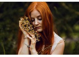 女人,情绪,妇女,模特,女孩,雀斑,红发的人,壁纸,