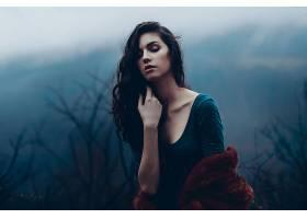 女人,情绪,妇女,模特,女孩,黑发女人,壁纸,(1)