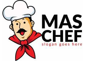 卡通厨师形象创意LOGO设计