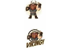 卡通战士形象创意LOGO设计