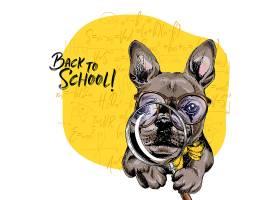 手绘可爱卡通小狗形象插画设计