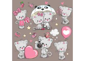 创意可爱小熊卡通形象矢量插画设计