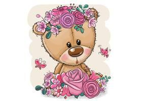 小熊卡通形象可爱矢量插画设计