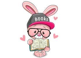 兔子卡通形象可爱矢量插画设计
