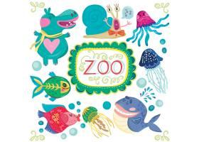可爱动物主题矢量装饰插画设计