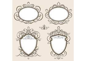 复古欧式花纹边框标签矢量元素图片